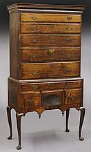 Queen Anne maple high chest of drawers,