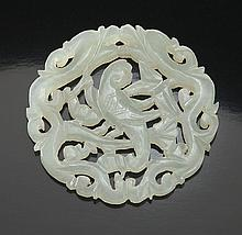 Chinese Qing carved jade pendant