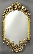 English carved gilt framed wall mirror,