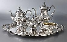 6 Pc. Gorham Chantilly-Countess sterling tea set