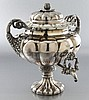 Old Sheffield silver plate hot water urn