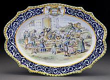 HB Quimper decor riche platter