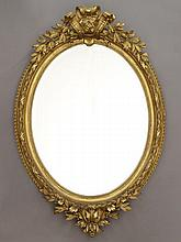 19th C. Continental gilt wood mirror