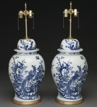 Pr. Chinese Kangxi style blue and white porcelain