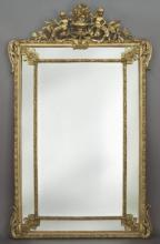 Classical gilt wood and gesso wall mirror
