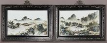 Pr. Chinese Republic porcelain screens attr.
