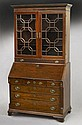 Georgian mahogany bureau bookcase,