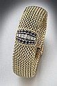Baume and Mercier 14K gold and diamond wrist watch
