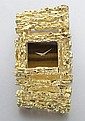 Piaget 18K gold and tiger eye bracelet watch