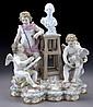 Meissen porcelain allegorical group with cherubs