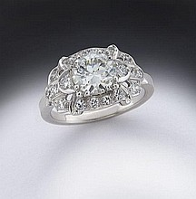 Art Deco platinum and diamond (EGL USA) ring