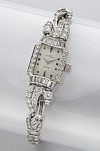 Retro Girard Perregaux platinum and diamond watch