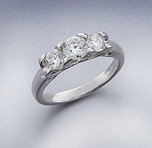 Roberto Coin platinum and diamond ring