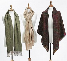 (2) Loro Piano scarves and (1) Etro wrap