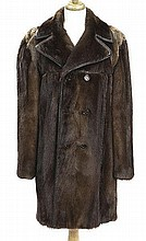 Gentleman's natural otter fur stroller length coat