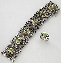 2 Pcs. Konstantino 18K, sterling and peridot