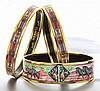 (3) Hermes pink enameled bracelets
