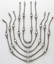 (5) John Hardy sterling silver rope necklaces.