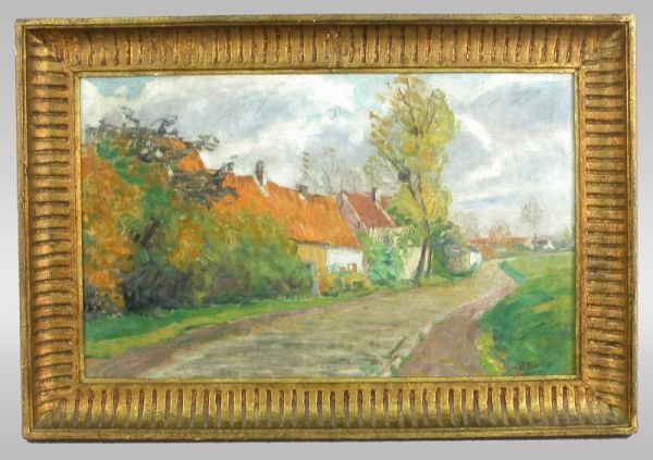 Signed Henri Roidot (LR) oil on canvas titled