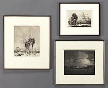 (3) George Elbert Burr etchings.