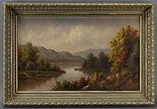 Hamilton Hamilton landscape oil on canvas, 1887.