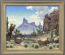 Joseph Aceves landscape oil on canvas.