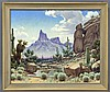 Joseph Aceves landscape oil on canvas.