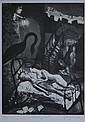 SHEAD, Garry (b.1942) 'Sleeping Poet' Aquatint