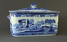 Spode Lidded Bread Container. 'Italian' pattern.