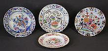 4 Various Early English Porcelain Plates. Incl.