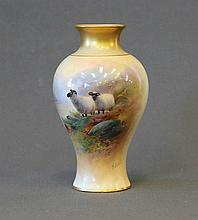 Royal Worcester Harry Davis Vase. Painted highland