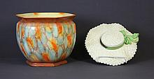 2 Various Falcon Ware Items. Incl. straw hat form