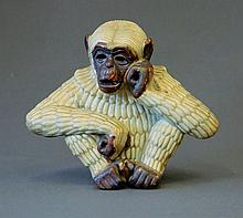 Swedish Ceramic Monkey Figure. Signed R/GN to
