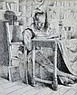 SANTRY, T John (1910-1990)  'Don Quixote in His Study,' 1930.