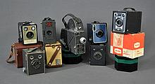 8 Various Cameras. Incl. Ensign Cadet; Box
