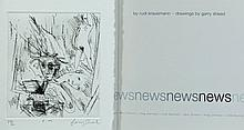 BOOK, 'News,' by Rudi Krausmann.  Drawings by Garry SHEAD. Inc. 'E.M.' sign
