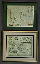 MAPS (2), Various Mediterranian Maps.  Chart of t