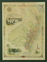 MAP, Early Map of New South Wales.  J & F Tallis