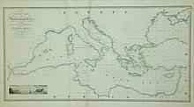MAP, General Chart of the Mediterranean Sea.  Map