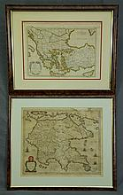 MAPS (2), Early Maps of the Mediterranian.  Morea