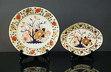 2 Various Early Derby Plates.  Handpainted cobalt