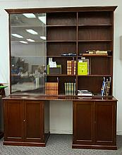 Glass Top Bookcase.  Extensive top section with s