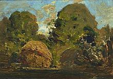 BOYD, T Penleigh (1890-1923) Building a Haystack,