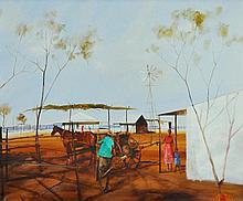 SAWREY, Hugh (1923-1999) 'Loading up the Trap