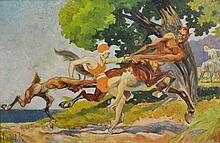 SOUTER, David H (1862-1935) The Abduction, 1928.
