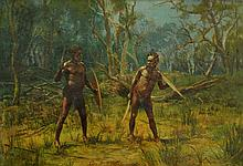 WEBB, George A J (1861-?) 'A Native Duel,' 1907.