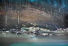 DYER, Geoffrey (b.1947) Riverbank Reflected Mixed