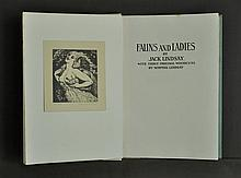 BOOK, 'Fauns & Ladies,' by Jack Lindsay #155/210.