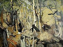 SCHLUNKE, David (b.1942) 'Ibis in Flight III'.