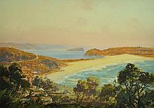 ALLCOT, John (1888-1973) Palm Beach, 1931. Gouache
